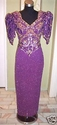 Purple Beaded Dress -- Preowned
