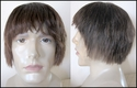 Human hair redish brown wig. SOLD