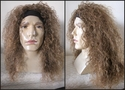 Redush Brown Crimpy Curly Headband Rocker Wig