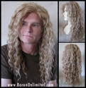 Brendan  <br> Human Hair Synthetic BLEND Skin-top Long Man's Wig