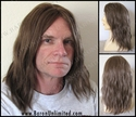 Sam --100% Human Hair  Mono- top Long Man's Wig