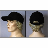 Short Synthetic Hair Attached To Baseball Cap
