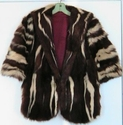 SOLD  ---  Rare Vintage Skunk Fur Stole