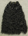 Synthetic -- weft hair 12 inches long -- Color 1b.