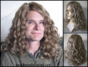 Tem <br> Synthetic Curly Man's Wig