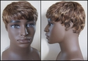 Very short human hair wig - Multi color