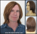 Vett  <br> Machine tied Mono-top Man's Synthetic Wig