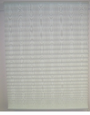 Moire Pleated Shade - White