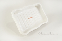 Republic porcelain ceramic sink-mount soap dish, circa 1910s