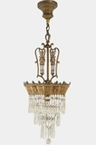 3-tiered Classical crystal chandelier, circa 1910s