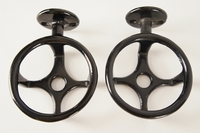 Black porcelain cast iron cup holder, circa 1910s