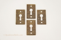 Cast brass keyhole cover, circa 1880s (4 available)