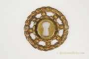 Cast brass round keyhole cover, circa 1900s (3 available)