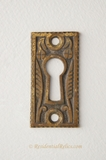 Cast brass Victorian keyhole cover, circa 1880s (2 available)