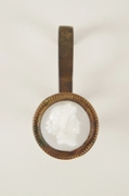 Victorian picture hook with cameo face, circa 1890s (11 available)