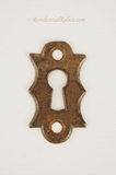 Cast iron keyhole cover, circa 1890s (3 availble)