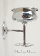 Chrome plated cup & toothbrush holder, circa 1920s
