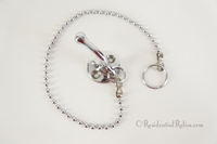 Chrome plated hook with chain, circa 1920s