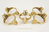 German brass curtain clips, circa 1920s (25 available)