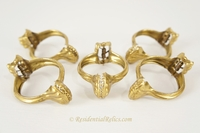German brass curtain clips, circa 1920s (21 available)