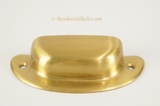 Lacquered brass bin pull, circa 1920s (4 available)