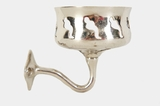 San o La nickel plated cup holder, circa 1910s