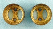 PAIR cast brass curtain rod holders <NOBR>(ca. 1920s)</NOBR>