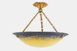 Petro French 3-chain colored glass chandelier, circa 1920s