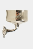 Sanola nickel-plated cup holder, circa 1910s (1 available, 1 sold)