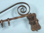 SET OF 7 wrought iron curtain rods and brackets <NOBR>(ca. 1930s)</NOBR>