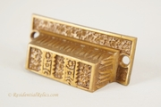 Victorian cast brass bin pull, circa 1880s (7 available)