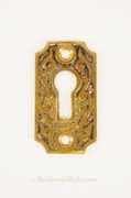 Victorian cast brass keyhole cover, circa 1880s (2 available)