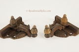Victorian swing-arm window lock set, circa 1880s (5 available)
