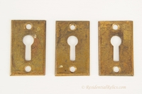 Cast brass keyhole cover, circa 1900s (3 available)