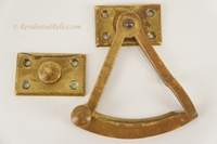 Cast brass Victorian swing arm sash lock set, circa 1880s