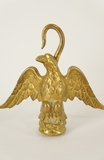Cast/plated brass eagle finial, circa 1940s