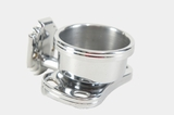 Chrome plated brass cup and toothbrush holder, circa 1950s