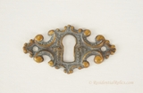 Fancy cast brass keyhole cover, circa 1900 (3 available)