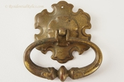 Fancy brass-plated pull, circa 1940s (12 available)