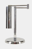Koch + Lowy OMI chrome-plated adjustable swing-arm desk lamp, circa 1960s
