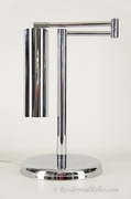Mid-century Koch + Lowy OMI chrome-plated adjustable swing-arm desk lamp, circa 1960s