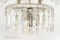 Large cut crystal and cast glass chandelier (electrified), circa 1840s
