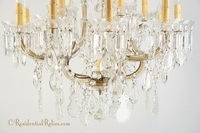 Large Maria Theresa cut crystal chandelier, circa 1940s