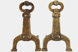 PAIR Cahill Hammered Andirons, circa 1920s