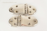 Pair of nickel plated brass offset hinges, circa 1900s