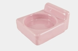 Pink ceramic cup holder, circa 1930s (2 available)