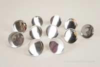 SET of 11 mid-century chrome-plated knobs, circa 1950s