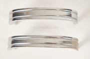 SET of 12 mid-century chrome-plated handles, circa 1950s