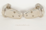 Set of 4 nickel-plated offset hinges, circa 1920s