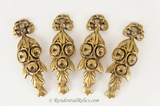 SET of 4 heavy cast brass furniture leg ornaments, circa 1900